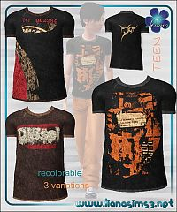Sims 3 cloth, clothes, fashion, male, teen, t-shirt, tee, shirt, top