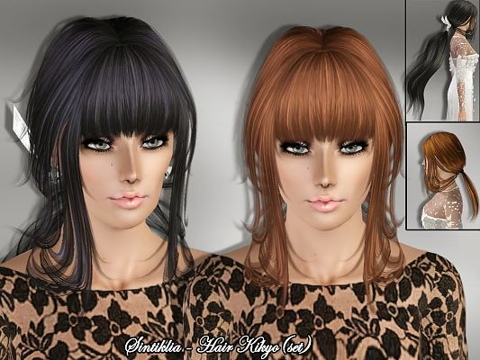 Sims 3 hair, hairstyle, female, outfit