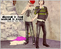 Sims 3 jeans, bottoms, teen, male