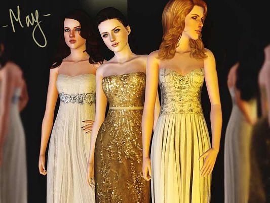 Sims 3 dress, fashion, gown, formal