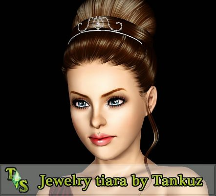 Sims 3 tiara, headwear, jewelry, accessories