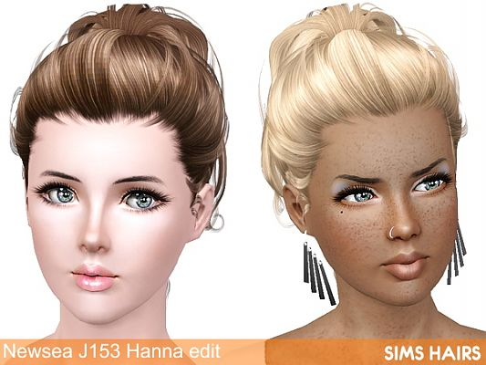 Sims 3 hair, hairstyle, female, retexture