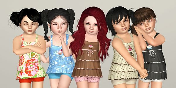 Sims 3 outfit, fashion, clothing, toddler, dress