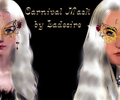 Sims 3 mask, accessories, fashion, female, sims3
