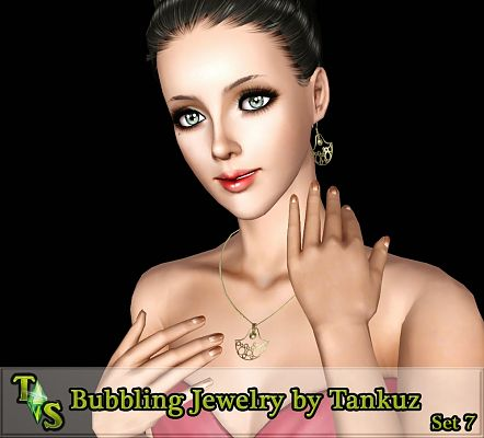 Sims 3 accessory, jewelry, set