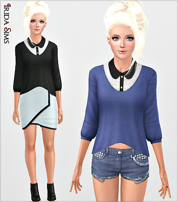 Sims 3 sweater, outfit, clothing, shirt, fashion, female