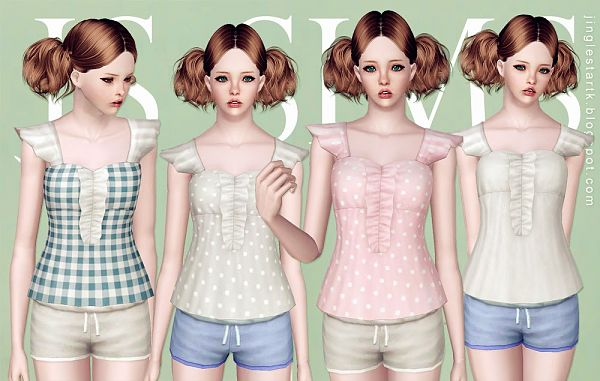 Sims 3 top, outfit, clothing, shirt, fashion, female