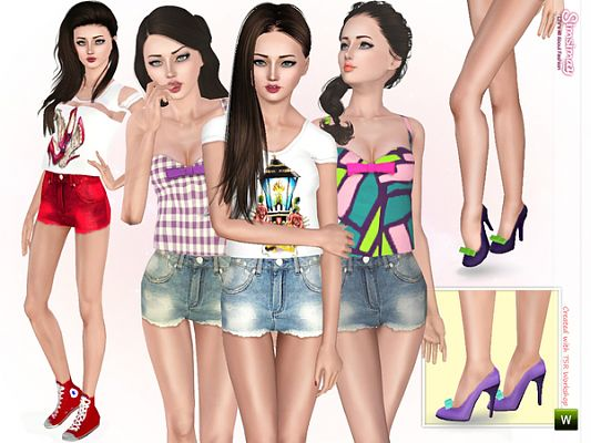 Sims 3 outfit, set, clothing