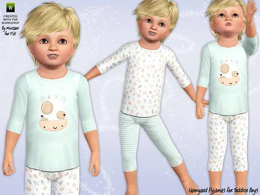 Sims 3 sleepwear, fashion, pyjama, male, sims3