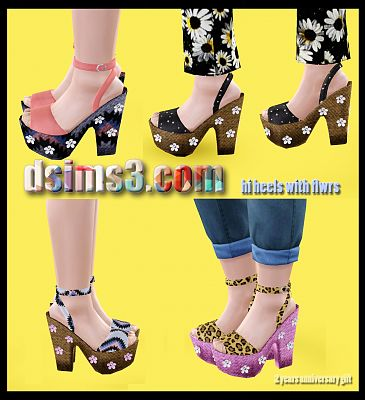 Sims 3 sneakers, shoes, flats, female, sims3