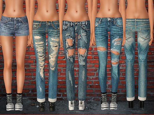Sims 3 clothing, clothes, jeans