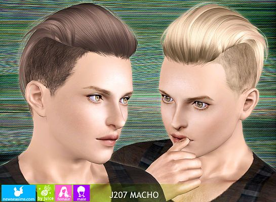 Sims 3 hair, hairstyle, genetics, male, sims3