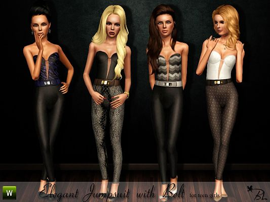Sims 3 jumpsuit, outfit, clothing, fashion, female, sims3