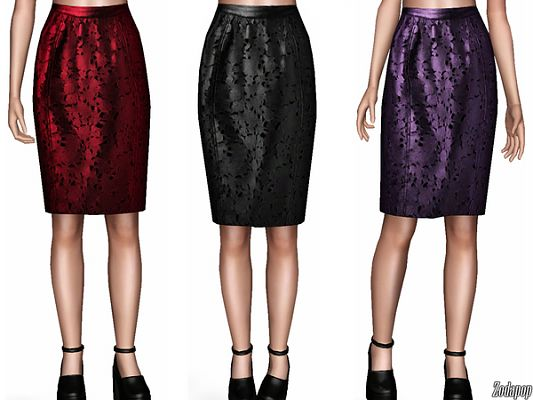 Sims 3 skirt, clothing, clothes, leather
