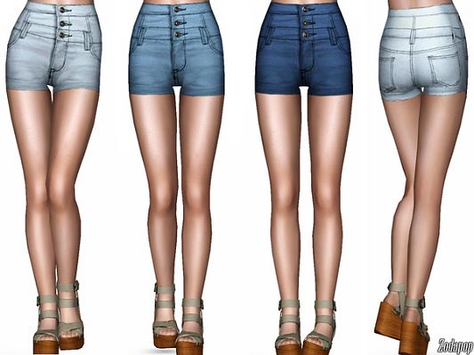 Sims 3 clothing, clothes, jeans, shorts