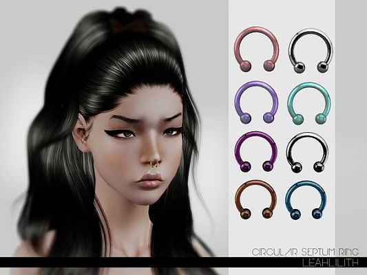 Sims 3 accessory, rings, septum
