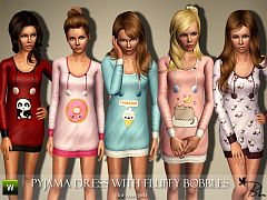 Sims 3 pyjama, dress, sleepwear, outfit, fashion
