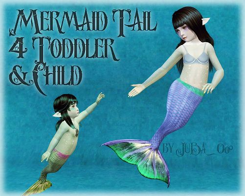 Sims 3 tail, mermaid