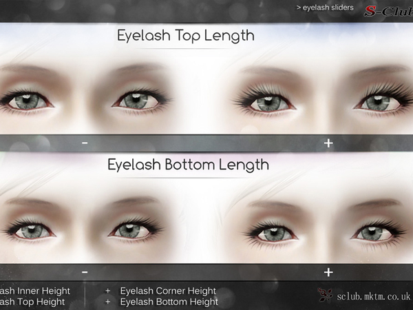 eyelashes for the sims 4