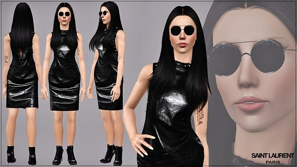 Sims 3 dress, outfit, shoes