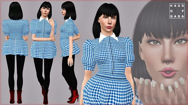 Sims 3 outfit, costume, dress