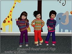Sims 3 pants, top, fashion