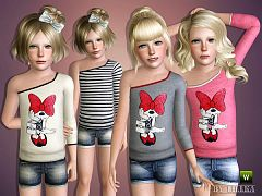 Sims 3 shirt, top, fashion, short