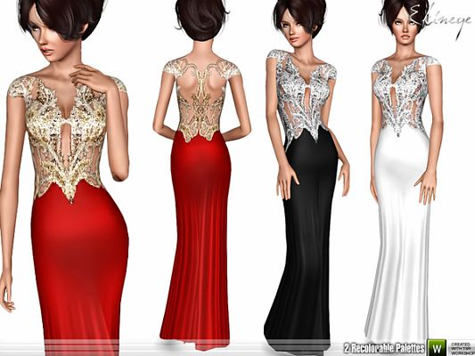 Sims 3 dress, outfit, gown