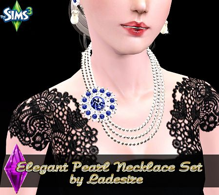 Sims 3 necklace, pearl