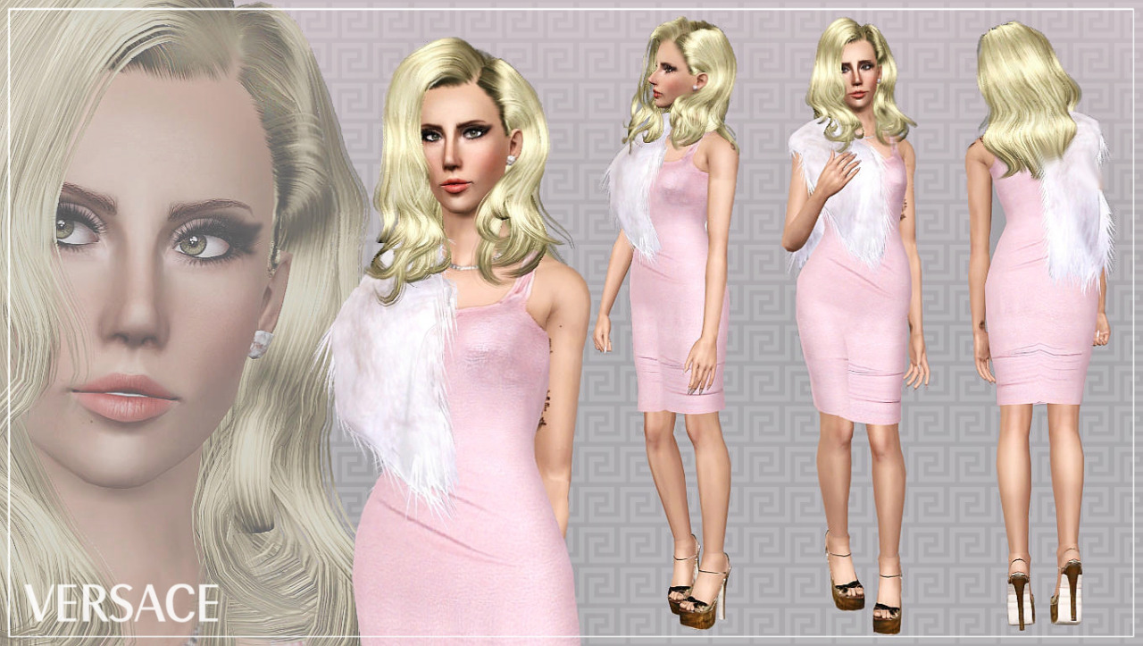 Sims 3 black dress and heels