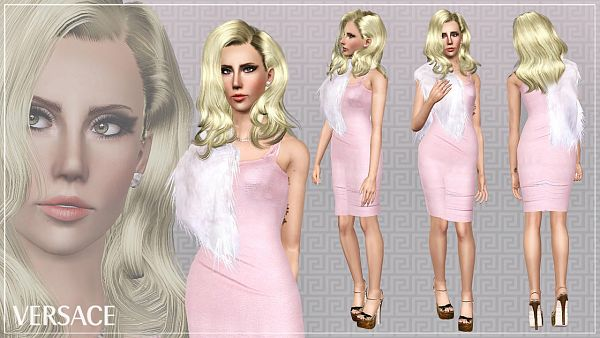 Sims 3 dress, outfit, shoes, sandals