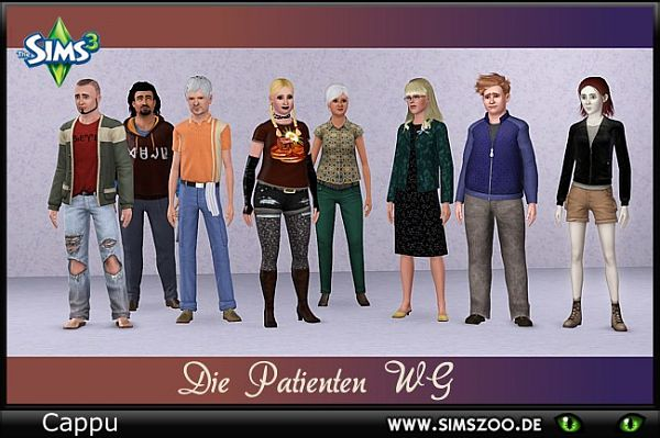 Sims 3 family, sims, female, male, model