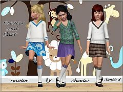 Sims 3 sweater, skirt