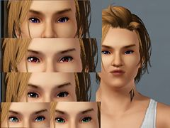 Sims 3 eyes, contacts