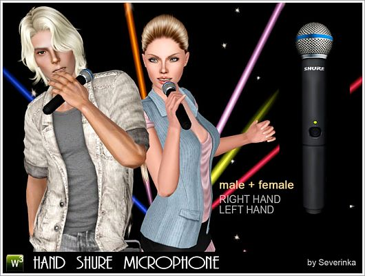 Sims 3 microphone, accessory