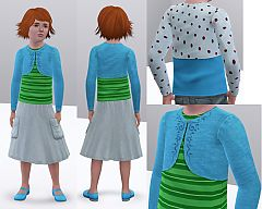 Sims 3 clothing, fashion, top, child, bolero, girl