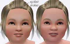 Sims 3 toddler, skintone, genetics