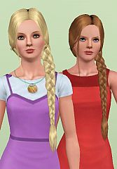 Sims 3 hair, hairstyle, braid, nouk