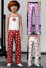 Sims 3 cloth, pajama, sleepwear, girl