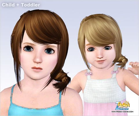Sims 3 hair, children, toddler, hairstyle