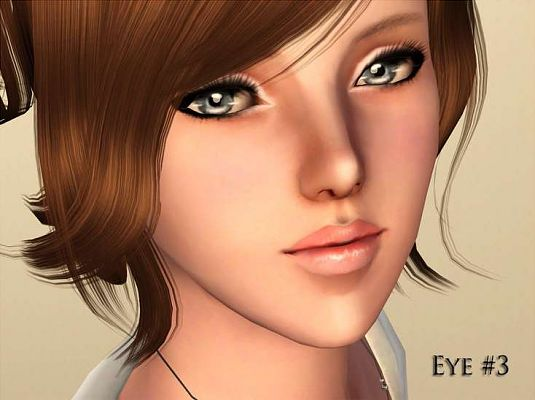Sims 3 eyes, contact lens, genetics