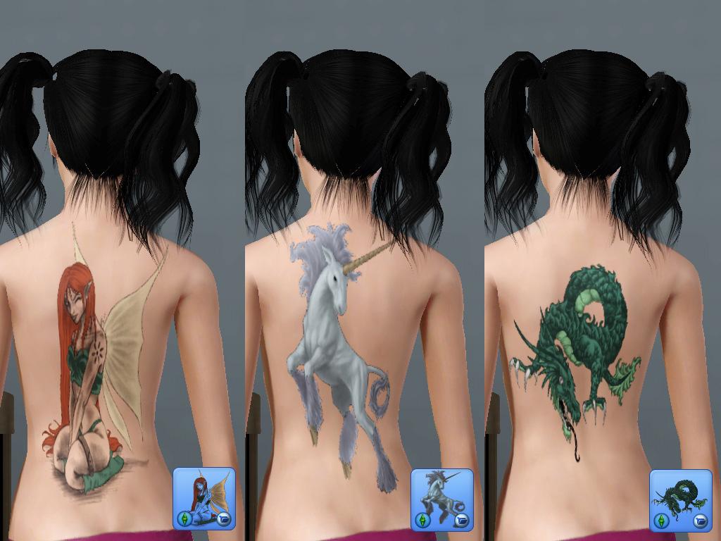 Как сделать татуировку для симс 4 382