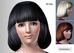 Sims 3 hairstyle, hair, shortcut, genetics