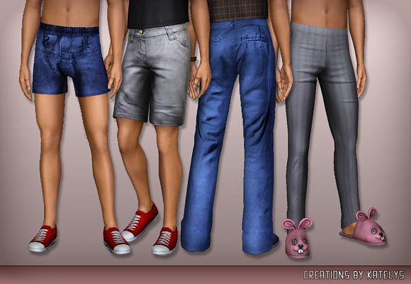 Sims 3 trousers, pants, male, clothing