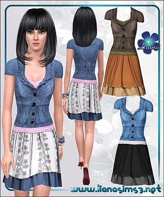 Sims 3 clothing, outfit, denim, jeans, fashion