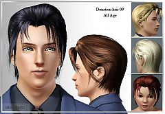 Sims 3 hairstyle, genetics, hair, medium, male