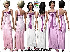 Sims 3 One shouldered, organza, evening dress