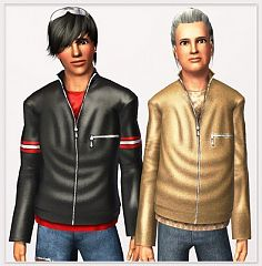 Sims 3 jacket, leather, top, fashion, cloth, male