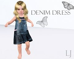 Sims 3 clothing, denim, dress, girls, boys, pants