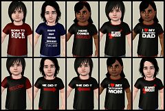 Sims 3 shirt, toddlers, fashion, clothing